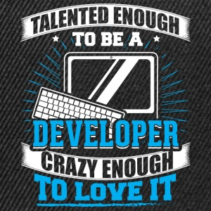 TALENTED developer - Snapback Cap
