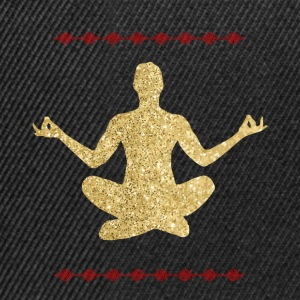Meditation gold design - Snapback Cap