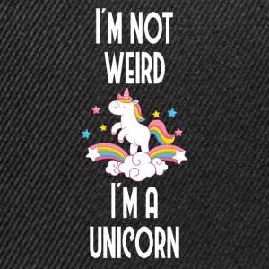 I´m not weird, I´m a unicorn - Snapback Cap