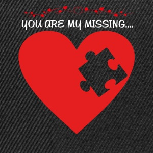 Missing Puzzle Teil 1 weiss - Snapback Cap