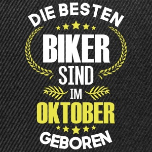 The best bikers are born in October - Snapback Cap