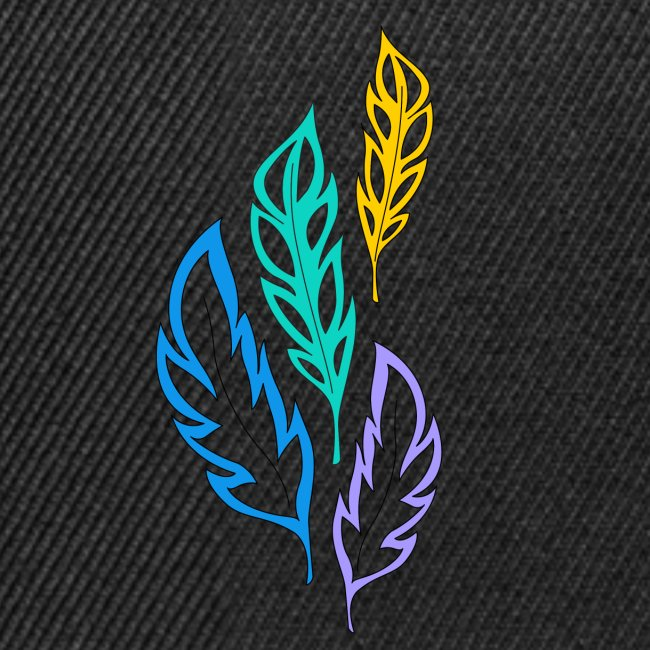 piume astratte multicolore