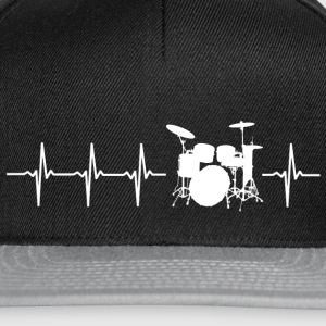 I love drums (drum heartbeat) - Snapback Cap