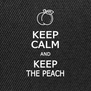 Keep calm and keep the peach - Casquette snapback