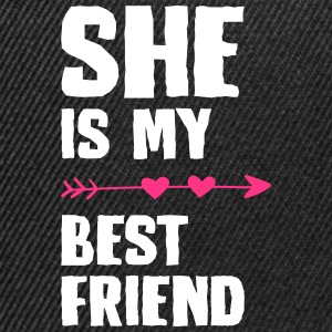 She is my best friend Left - Snapback Cap