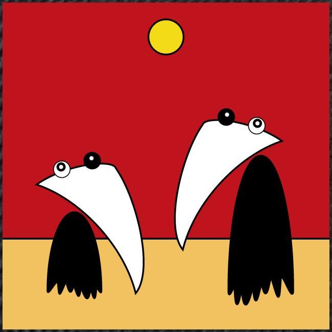 Raving Ravens - in the desert