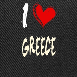 I love greece - Snapback Cap