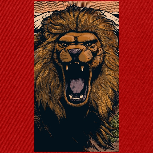 Lion grin