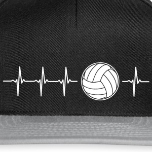 J'aime le volley-ball (volley-ball rythme cardiaque) - Casquette snapback