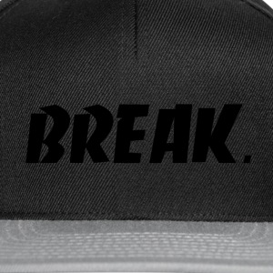 svart BREAK - Snapback-caps