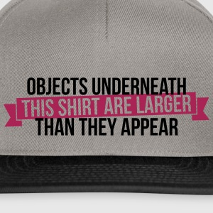 Objects underneath are larger - Snapback Cap