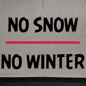 No snow no winter - Snapback Cap