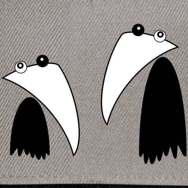 Raving Ravens - black and white 1