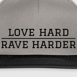 love hard - rave harder Festival - Snapback Cap