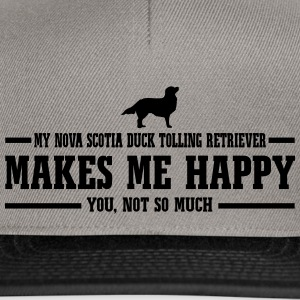 NOVA SCOTIA DUCK TOLLING RETRIEVER makes me happy - Snapback Cap