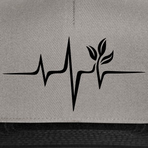 Vegan pulse, plant, frequency, heartbeat, beat, V - Snapback Cap
