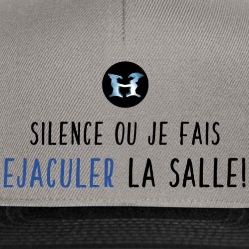 Ejaculer La Salle - Logo - Noir Bleu - Casquette snapback
