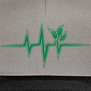 Plant frequency, pulse, heartbeat, green, vegan - Snapback Cap