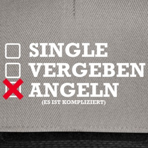 Single, forgiveness, Fishing - Snapback Cap