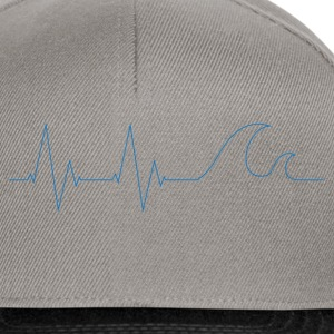 cardio-waves-blue - Snapback Cap