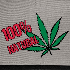weed - 100% natural hemp - Snapback Cap