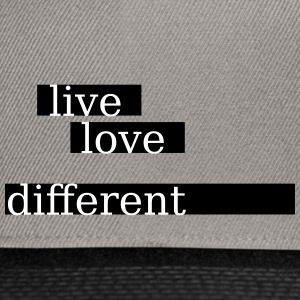 live love different - Snapback Cap
