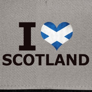 I LOVE SCOTLAND FLAG - Snapback Cap