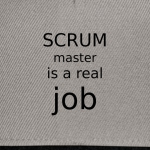 Scrum master is a real job - Snapback Cap
