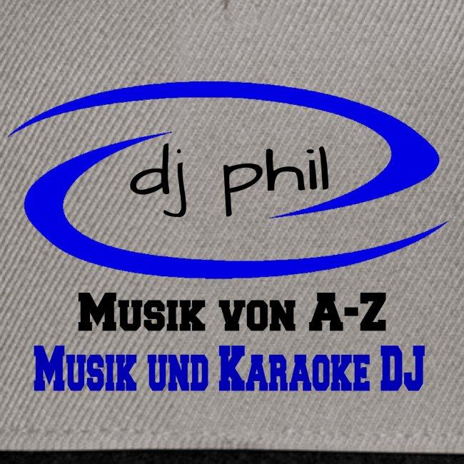 DJ Phil LOGO Schwarz