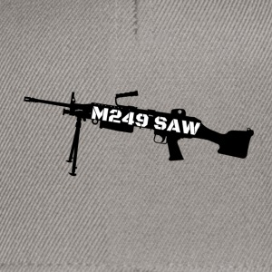 M249 SAW light machinegun design - Snapback Cap