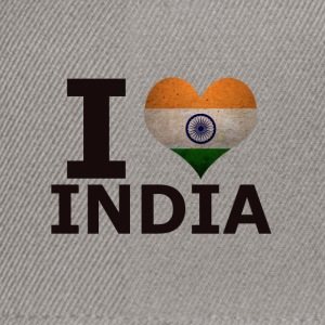 I LOVE INDIA FLAG - Snapback Cap