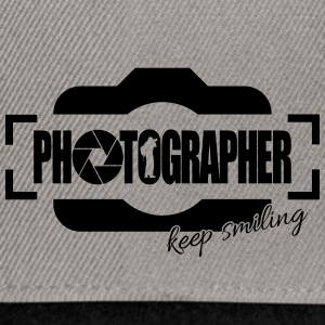 PHOTOGRAPHER KEEP SMILING - Snapback Cap