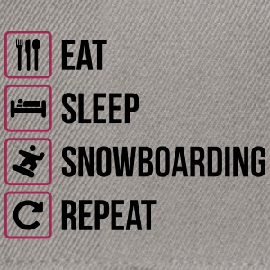 Eat Sleep Snowboarding Repeat - Snapback Cap