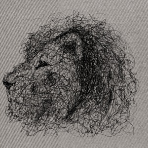 Lion Scribble - Snapback-caps