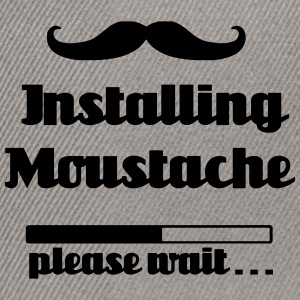 Installing Moustache, please wait - Snapback Cap