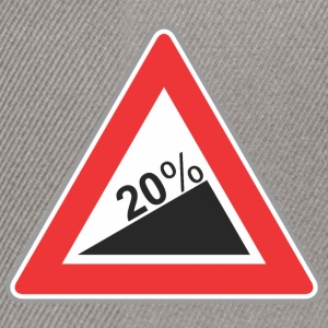 Road Sign 20 percent angle - Snapback Cap