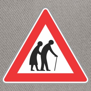 Road sign Old people red - Snapback Cap