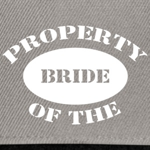 Just Married Property of The Bride - Snapback Cap