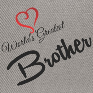 WORLDS GREATEST BROTHER - Snapback Cap