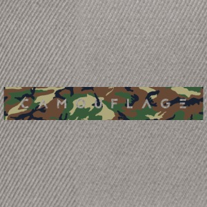 Camouflage lettering - Snapback Cap
