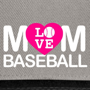 Mom love baseball - Snapback Cap