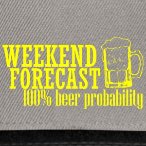 WEEKEND FORECAST 100& BEER gelb - Snapback Cap