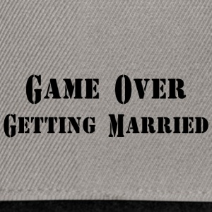 GAME OVER Getting Married - Snapback Cap