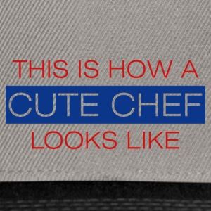 Koch / Chefkoch: This is how a cute chef looks - Snapback Cap