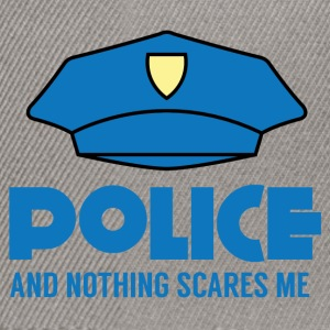 Polizei: Police And Nothing Scares Me - Snapback Cap