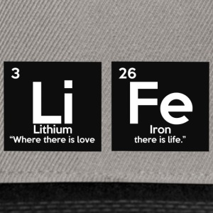 Periodic table elements: Li Fe - Life - Snapback Cap