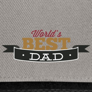 world best dad - Snapback Cap