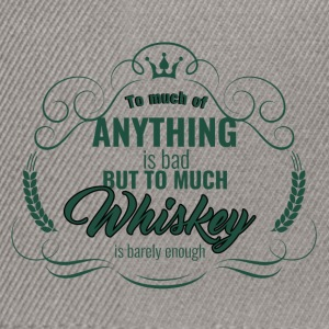Whiskey - To much of Anything is bad... - Snapback Cap