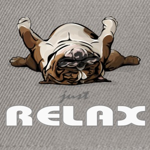 ENGLISH BULLDOG just relax - Snapback Cap