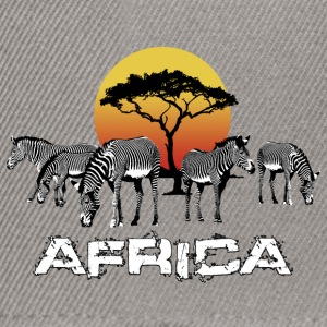 Zebra Africa Sunset Wildlife Safari Kenya - Snapback Cap